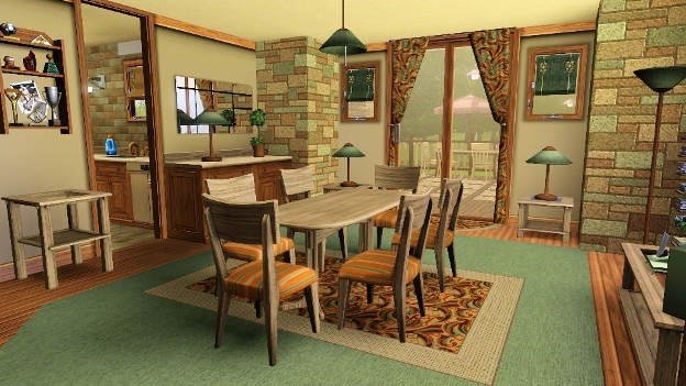 Alice grove 3bd 3ba sparkling homes for Sims 3 dining room ideas